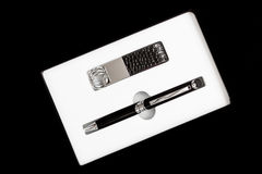 Pen and keychain Royalty Free Stock Photo