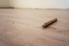 Pen on laminate Royalty Free Stock Photos