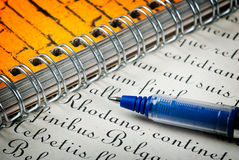 Pen and letter Stock Images