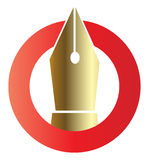 Pen logo Royalty Free Stock Image