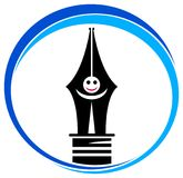 Pen logo Stock Photo
