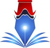 pen logo Royalty Free Stock Photo