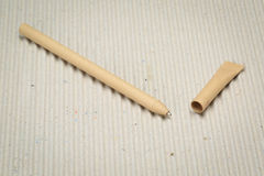 Pen. A pen made of paper. Environmentally friendly stationary supplies Stock Photography