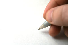 Pen in man hand Royalty Free Stock Photos