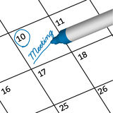 Pen mark important day with birthday. Royalty Free Stock Photo