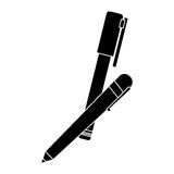 pen and marker icon image Stock Images