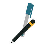 pen and marker icon image Stock Image