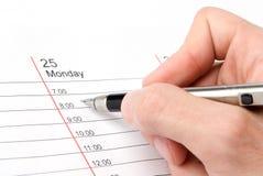Pen in mensenhand Royalty-vrije Stock Afbeeldingen
