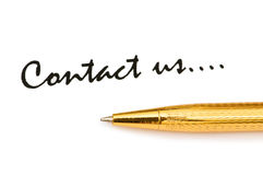 Pen and message Royalty Free Stock Photo