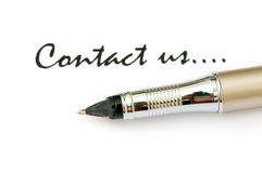Pen and message Stock Images