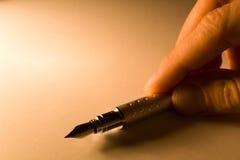 Pen met document royalty-vrije stock foto's