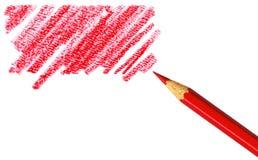 Pen met gekrabbel stock afbeelding