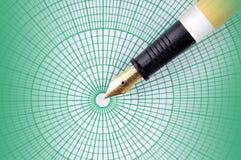 Pen met grafblad Stock Afbeeldingen