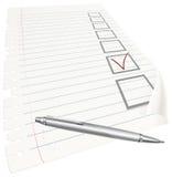 Pen met vinkje Stock Afbeeldingen