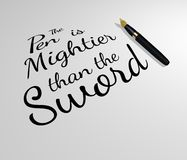 The Pen is Mightier than the Sword Stock Photo