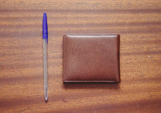 Pen And Money Wallet Fotografía de archivo