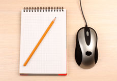 Pen and mouse Royalty Free Stock Image