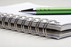 Pen nad notebook Royalty Free Stock Photos