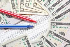Pen Near Money Stock Images