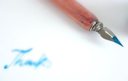 Pen with nib and ink Royalty Free Stock Photos