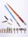 Pen nibs Stock Photo