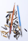 Pen nibs Royalty Free Stock Photo