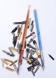 Pen nibs Royalty Free Stock Photo