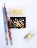 Pen nibs Royalty Free Stock Image