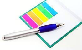 Pen and note Stock Photo