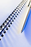Pen and note-book Royalty Free Stock Photos