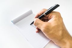 Pen and note book Royalty Free Stock Photo