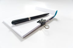 Pen and note book Stock Photography