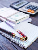 Pen and note Stock Photography
