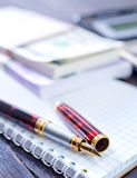 Pen and note Royalty Free Stock Photo