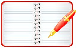Pen and notebook. Royalty Free Stock Photos