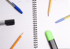 Pen & Notebook. On white background Royalty Free Stock Photos