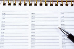 Pen with a notebook Royalty Free Stock Images