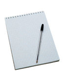 Pen on the notebook Royalty Free Stock Photo