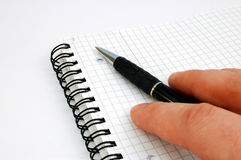 Pen and notebook #2. On white background stock image