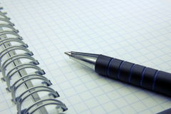 The pen and notebook Royalty Free Stock Images
