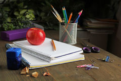 Pen on a notebook Stock Image
