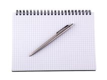 Pen and notebook 3 Stock Photography