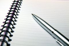 Pen and Notebook Royalty Free Stock Photos