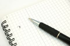 Pen and notebook #4 Royalty Free Stock Image