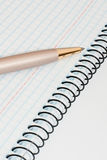 Pen and notebook. Notebook with pen on white background Royalty Free Stock Images