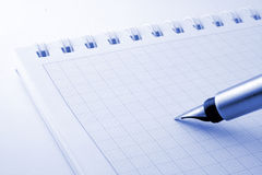 Pen & notebook Royalty Free Stock Photos