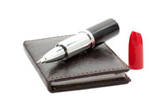 Pen on notebook Royalty Free Stock Photo