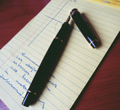 Pen and notebook b Royalty Free Stock Image