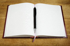 Pen and notebook close up Royalty Free Stock Images