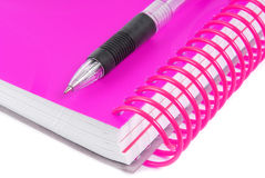 Pen and notebook closed Royalty Free Stock Photo